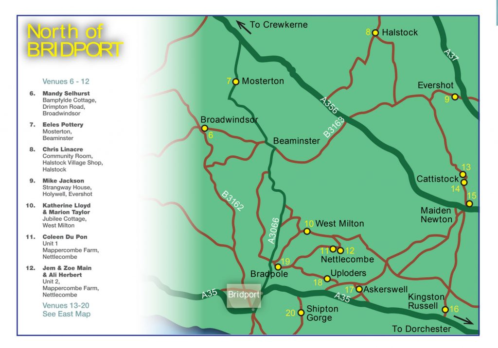 Map 3: North of Bridport