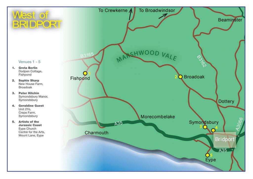 Map 2: West of Bridport