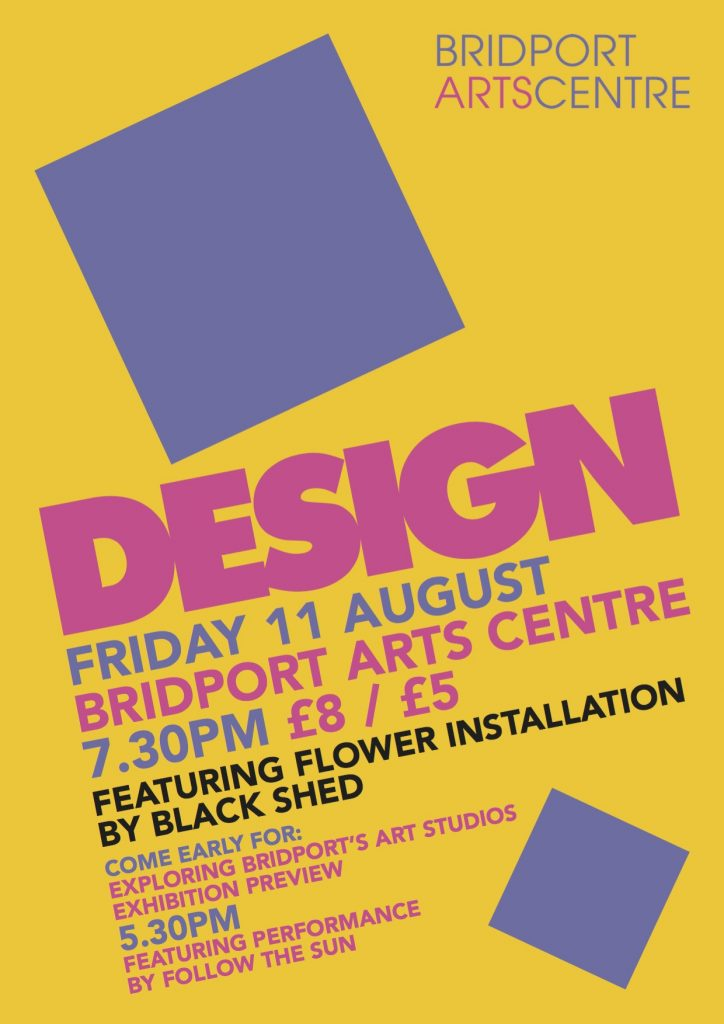 DESIGN Gig at Bridport Arts Centre Launch